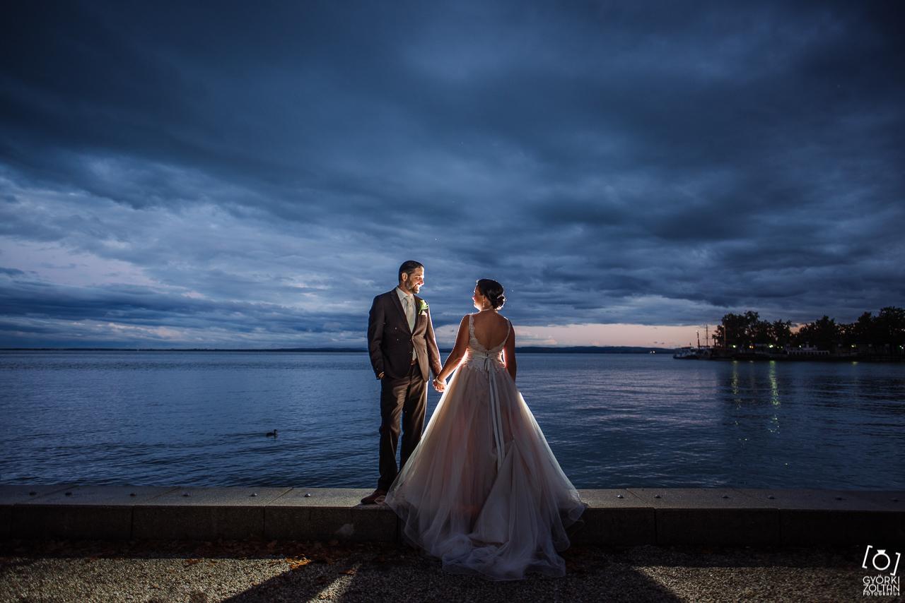 Balaton külön napi kreatív esküvő